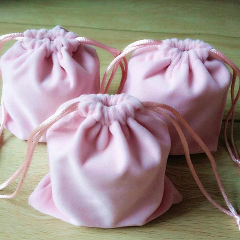 Custom Drawstring Bags 9*12 Cm Size Velevt Wedding Bags Gifts For Bride Bridesmaid Bridal Party Birthday Girl Gift Drawstring