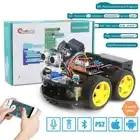 Coches Robot Keywish 4WD para Arduino Starter Kit coche inteligente APP RC robótica Kit de aprendizaje educativo STEM Toy chico lection + Video + código - 1