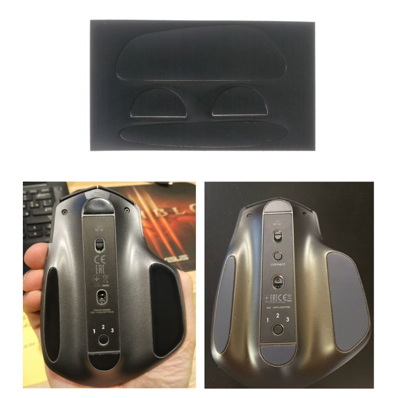 1 Set Black 0.6mm Curve Edge Mouse Feet Mouse Skates For Logitech MX Master Mouse C26