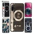 Винтажный Ретро-чехол krajew для телефона с камерой и музыкальной кассету для Huawei P20 P30 P40 Mate 20 30 40 Pro Lite P Smart 2019 2020 Z