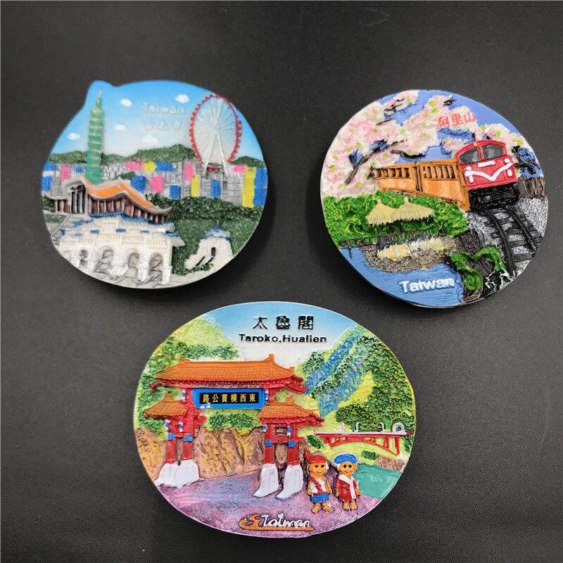 China Taiwan Taipei Fridge Magnet Refrigerator Magnetic Sticker Taroko huallen Tourist Attractions Landscape Souvenir Craft Gift(China)