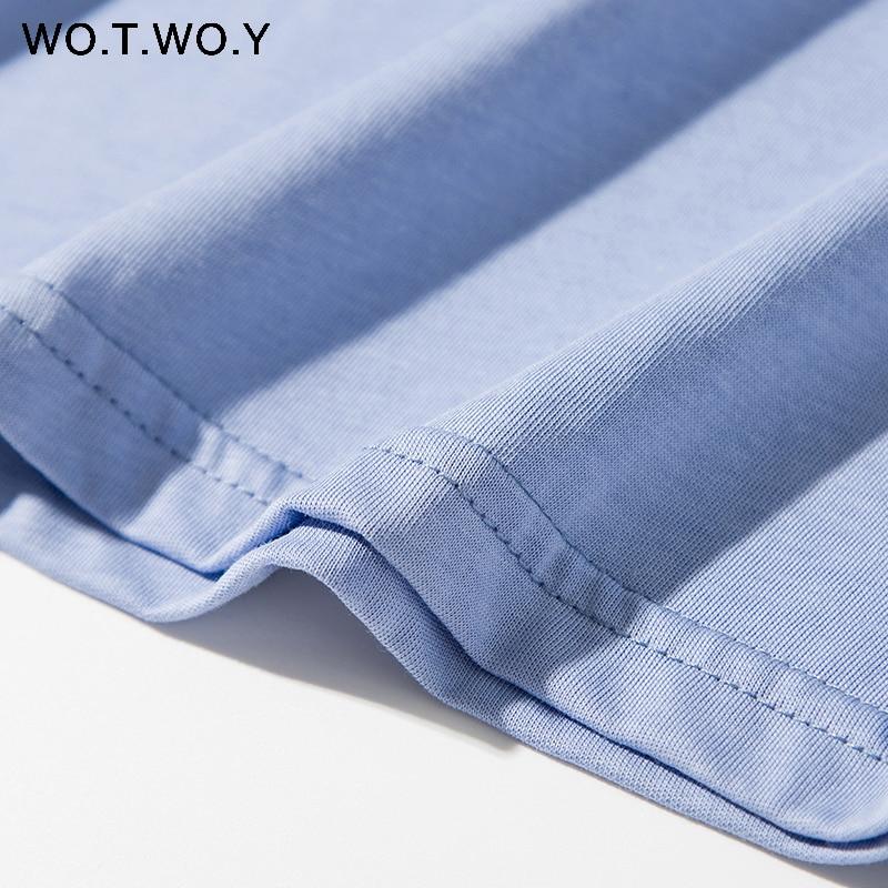 Clearance SaleCotton T-Shirt Tee Short-Sleeve Korean Tops Knitted Harajuku WOTWOY Summer Basic Femme