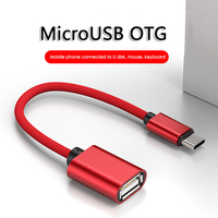 Cable adaptador USB OTG tipo C para Samsung, convertidor hembra a Micro USB macho para Android, IPhone, portátil, función OTG