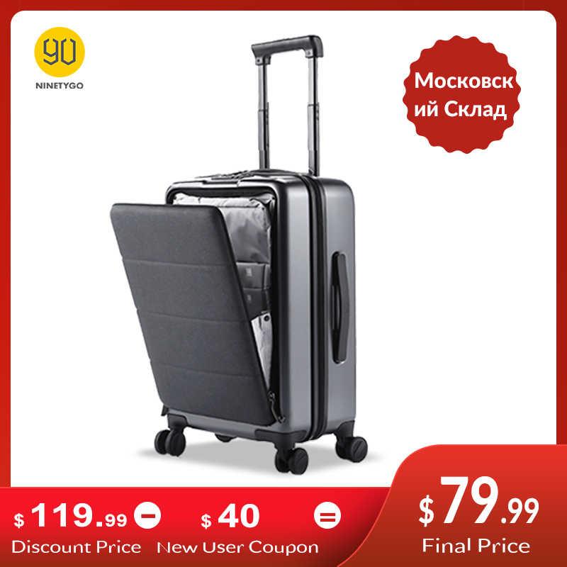 Ninetygo 90FUN Handbagage Met Spinner Wielen 20 Inch Hardside Hardshell Tsa Compliant Koffer Voorvak Lock Cover
