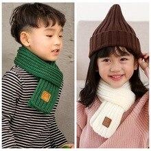 Soft Scarf Collar Gifts Warm Winter Fashion Children Solid Girls Stretch-Neck-Ring Kids