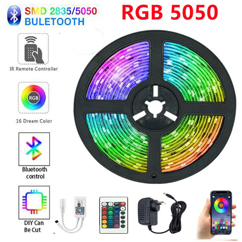 LED Light Strips Bluetooth WIFI Controller Flexible RGB 5050 Decoration BackLight Lamp Night light Luminous String For Bedroom