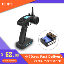FlySky-transmisor AFHDS RC FS-GT5, 2,4G, 6 CANALES, receptor con FS-BS6 para coche, barco
