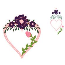 InLoveArts Flower Heart Dies Metal Cutting Dies New 2019 for Card Making Scrapbooking Dies Embossing Cuts Stencil Craft Dies yaminsannio boots dies scrapbooking metal cutting new 2019 shoes die cuts for card making cloud craft dies embossing