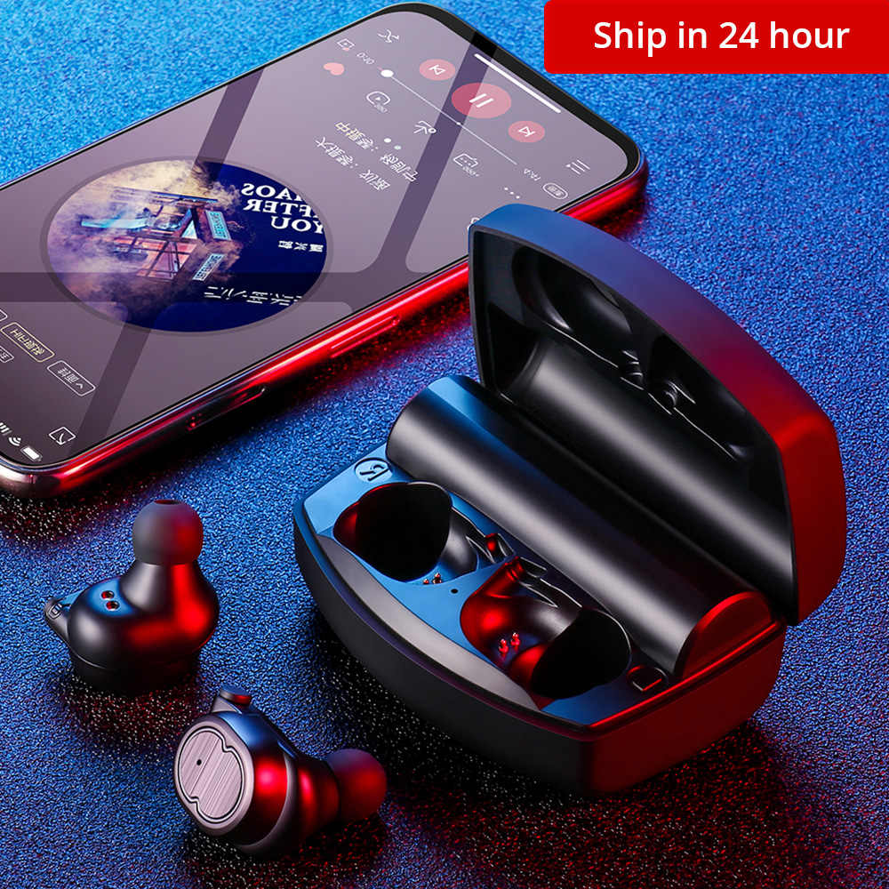 2019 Ini Wireless Earphone Tws Olahraga Bluetooth V5.0 Headset Kontrol Sentuh Benar Earbud Bass 6D Stereo Kepala-Gratis IPX5 tahan Air