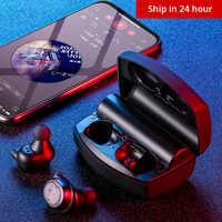 2019 LIGE auriculares inalámbricos TWS deporte Bluetooth V5.0 auriculares con Control táctil auriculares auténticos estéreo 6D auriculares sin cabeza IPX5 a prueba de agua