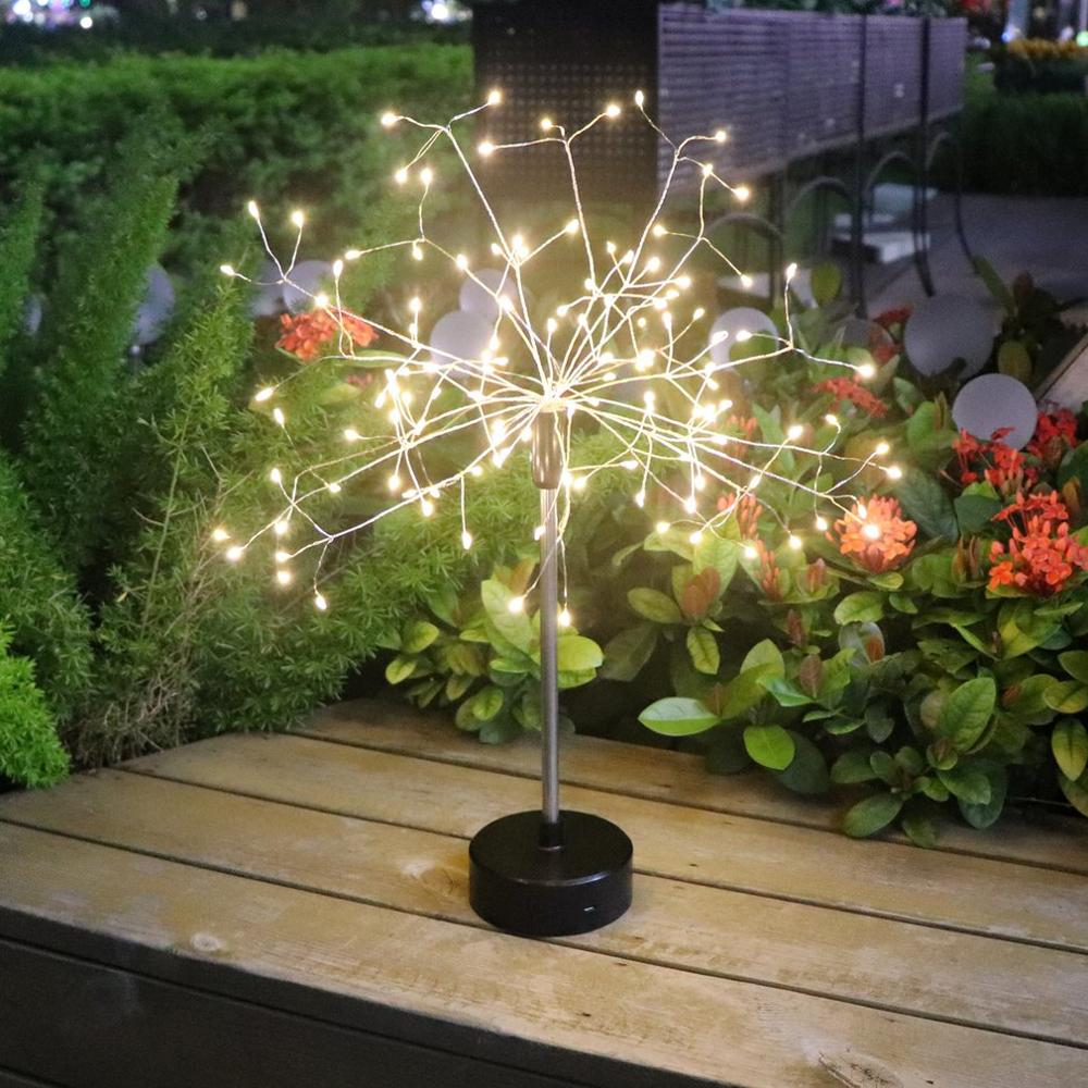 Led Copper Wire Starburst Lights Remote Control Dimmable String Light For Indoor Outdoor Christmas Festive Decoration