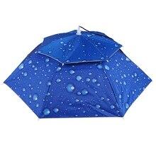 Открытый Большой двойной слой рыбалка зонтик шляпа Велоспорт Пешие прогулки Кемпинг пляж Зонт Солнечный дождливый кепки для мужчин женщин детей