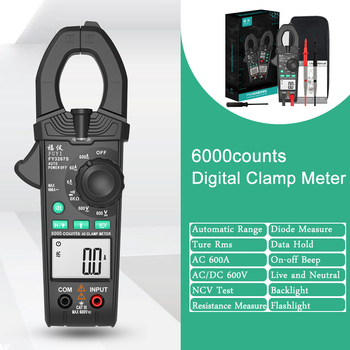 Smart Clamp Meter Digital Clamp Multimeter DC AC Current Voltage Ampere NCV Ohm Tester Current-measuring Pliers Electrician Tool digital clamp meter multimeter current clamp pincers ac dc current voltage resistance tester measuring tools