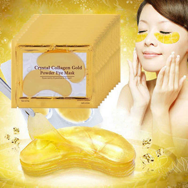 10Pcs= 5 Pairs  Collagen Gold Eye Mask Eye Patch Face Mask Eye Patches for the Eyes Crystal Masks Anti Dark Circle Eyelid Patch