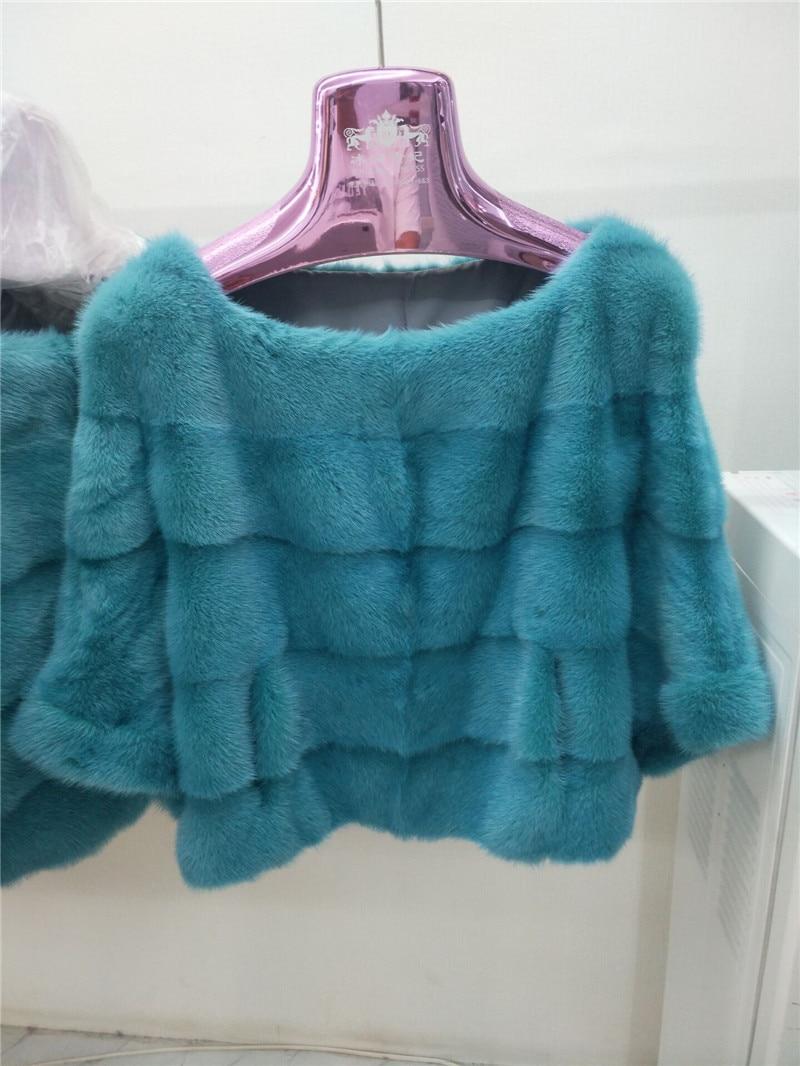 Women's New Natural Mink Fur Hoods Real Mink Fur Shawls Short Mink Jackets Jackets Fashion Casual European And American High Str
