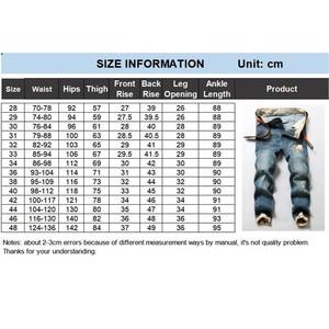 Image 5 - שחור ג ינס גברים ג ינס הכחול ז אן במצוקה Mens Jogger מכנסיים היפ הופ הרמון למתוח איש נער מכנסיים בתוספת גודל 42 44 46 48