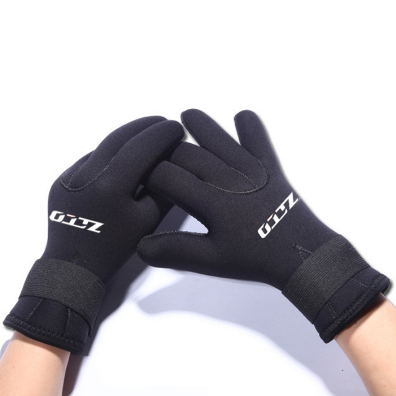 5mm Adult Diving Gloves Spearfishing Underwater Fishing Anti-slip Snorkeling Gloves Adjustable Men Women Swimming Warm Glove