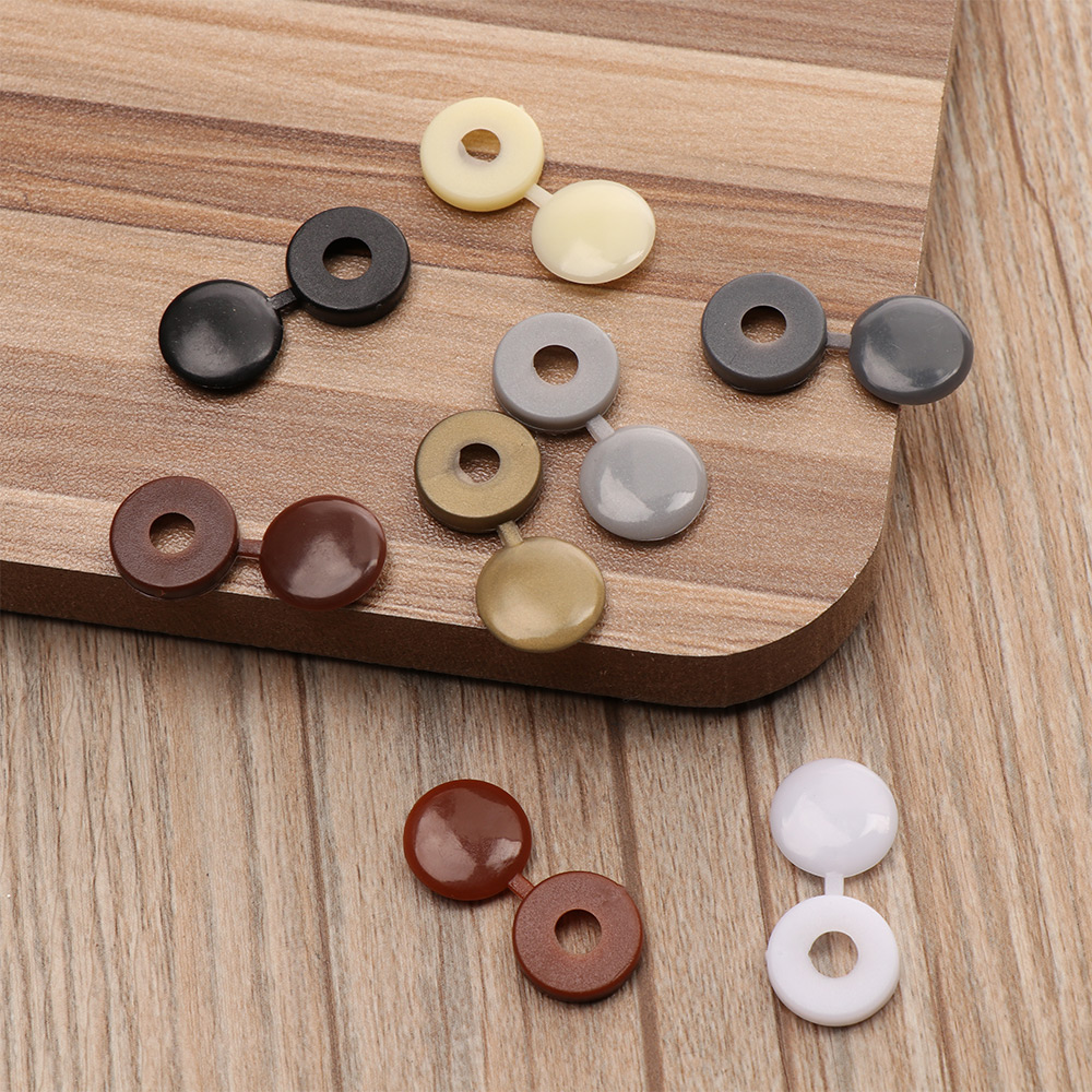 100 pcs/pack Colorful Hinged Plastic Screw Cover Fold Snap Cap Button Nuts Bolts Protect Furniture Self-tapping Exterior Decor(China)