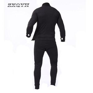Image 4 - ZXQYH ความร้อนฤดูหนาวผู้ชายชุดทหารยุทธวิธี Uniform กีฬากลางแจ้งเสื้อผ้าที่อบอุ่นเสื้อ + กางเกงชุดชุด