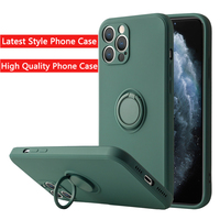 Anillo de silicona líquida para dedo, soporte magnético para iPhone 12, 11 Pro Max, Mini, XR, X, XS Max, 7, 8 Plus, SE 2020