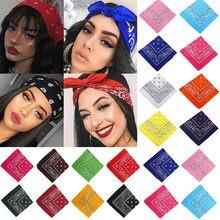 Boêmio impresso bandana lenço de cabelo turbante para as meninas das crianças do vintage unisex lenço quadrado laço de cabelo bandana acessórios de cabelo