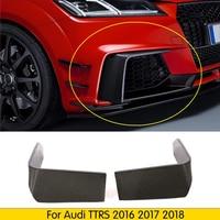 For Audi TTRS 2016 2017 2018 Carbon Fiber Front Bumper Fins Bumnper Aaccessoires