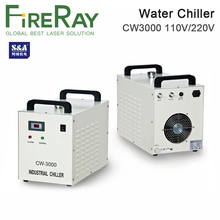 Fireray S&A CW3000 Industrial Water Chiller for CO2 Laser Engraving Cutting Machine Cooling 60W 80W Laser Tube DG110V AG220V cw3000 industrial chiller for water cooling 60 80 100w co2 cnc laser tube 220v 50hz zurong