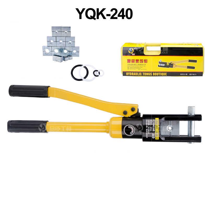 Manuelle hydraulische zangen YQK-70 YQK-120 YQK-240 YQK-300 kupfer und aluminium nase druck verdrahtung 8-12T