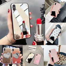 Luxury Diamond Glitter Mirror Case For iPhone 11 Pro Max X 8 7 6 6s Plus XS MAX XR Back Cover Hard Acrylic + TPU Fundas