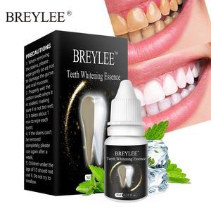 BREYLEE Teeth Whitening Serum Gel Oral Hygiene Cleaning Essence Remove Plaque Stains Tooth Bleaching Dental Care Toothpaste 10ml