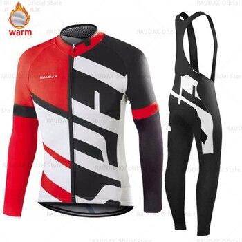 Conjunto de roupa de ciclismo masculina, camiseta e calça profissional de equipe para ciclismo mtb, calças, inverno, lã, 2020 triathlon 1