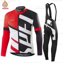 Mens Cycling Jersey set 2020 Pro Team Raudax Winter Fleece Cycling Clothing MTB Cycling Bib Pants Set Ropa Ciclismo Triathlon