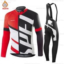 Uomo Ciclismo set Jersey 2020 Pro Team Raudax Panno Morbido di Inverno Ciclismo Abbigliamento MTB Ciclismo Bib Pants Set Ropa Ciclismo triathlon