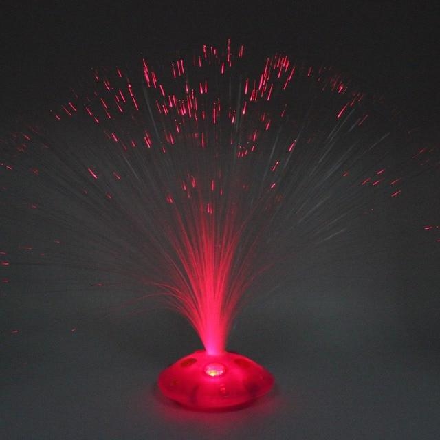1 lámpara de luz de noche de fibra óptica de cambio de ahorro de energía LED para decoración de dormitorio de niños