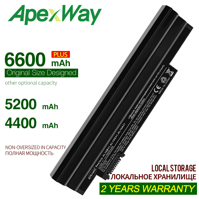 ApexWay <font><b>Battery</b></font> For <font><b>Acer</b></font> <font><b>Aspire</b></font> <font><b>One</b></font> 522 <font><b>722</b></font> AO522 AOD255 AOD257 AOD260 D255 D257 D260 D270 Happy, Chrome AC700 AL10B31 image