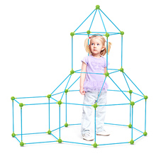 Beaded Tent Toy Plastic DIY Children Insert Bead Tent Toy Training Imagination Puzzling Toy Interactive Building Assembling Toy