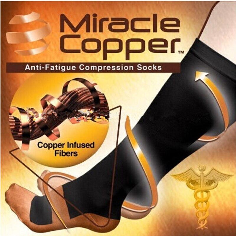 Vita-Wear Copper Compression Socks Unisex Anti-Fatigue Compression Socks Foot Pain Relief Soft Magic