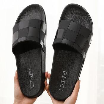 Luxury brand design Men Slippers Indoor Home Hotel Slippers Women Man bathroom Slides Summer House Shoes ladies Plus Size 46 цена 2017