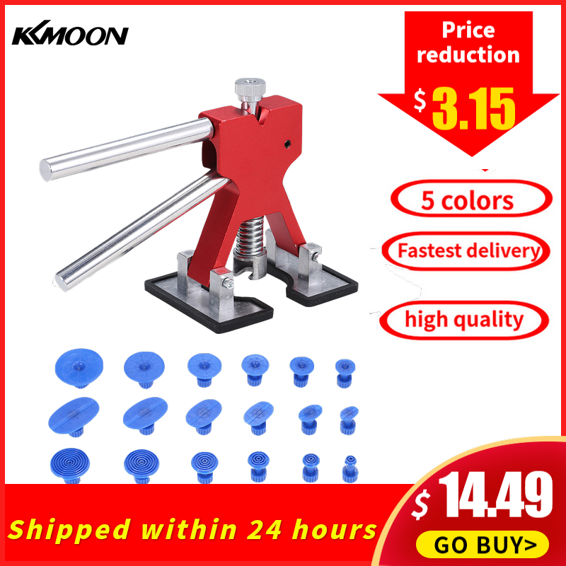 KKMOON Universal Automotive Paintless Car Body Dent Removal Tool Auto Puller Repair Dent Lifter Tools With 18pc Tabs Accessories