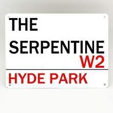 O serpentine hyde par kmetal sinal de alumínio cartazes café bar restaurante pub decoração da parede 12x8inch