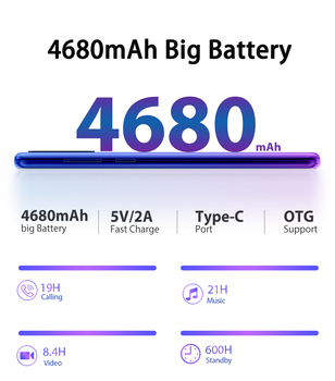 Blackview A80 Plus Mobile Phone Octa Core 4GB RAM+64GB ROM 13MP Quad Rear Camera 6.49 Inch Waterdrop Smartphone 4G Cellphone 3