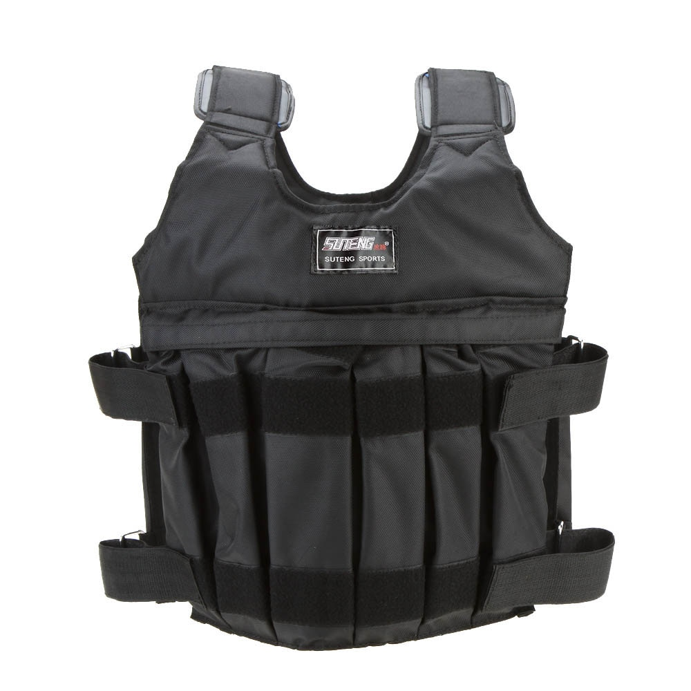 Max Loading 20kg/50kg Adjustable Weighted Vest Weight Jacket Exercise Boxing Training Waistcoat Invisible Weightloading Sand