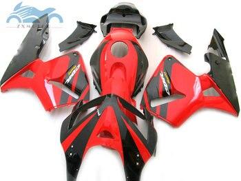 Motorcycle Injection fairing kit fit for Honda CBR600RR 2005 2006 CBR 600 RR 05 06 black red ABS fairing kits bodywork JK18