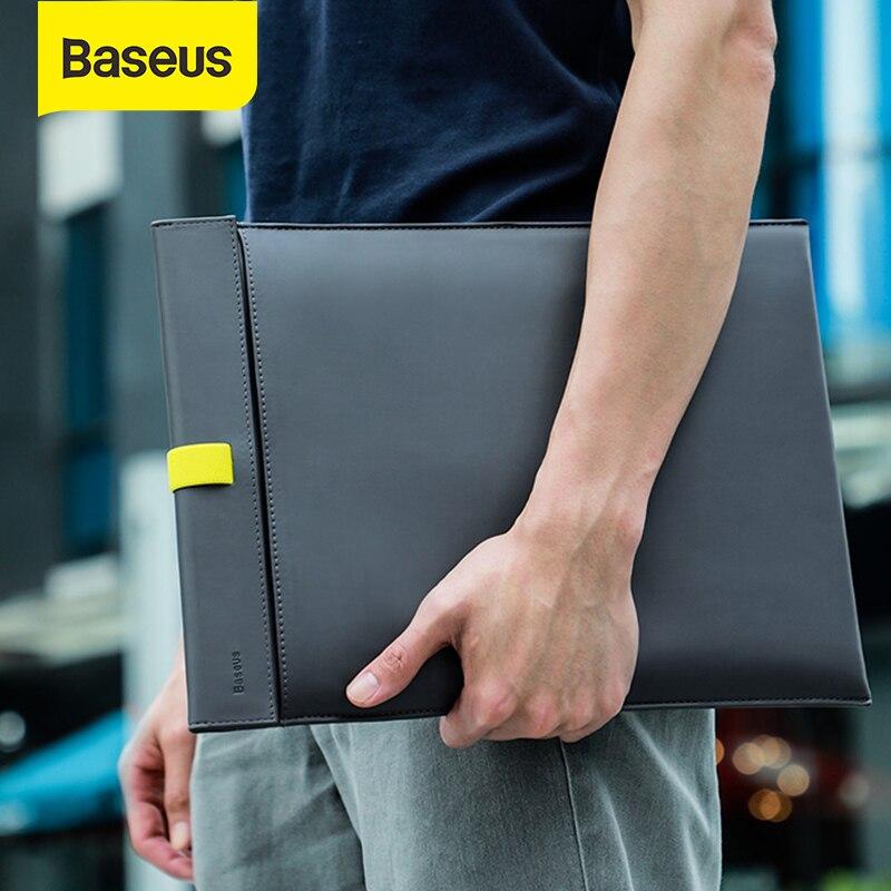 맥북 에어 프로 13.3/16 인치 노트북 노트북 슬리브 가방 케이스에 대한 Baseus 노트북 슬리브 가방 델 레노버 아수스 HP PU 핸드백