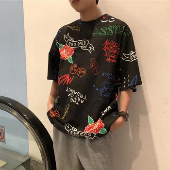 цена на Streetwear Tshirt Hip hop Harajuku Shirt Men O neck Black White Solid color Short sleeve Hip hop Loose Tees Summer Casual