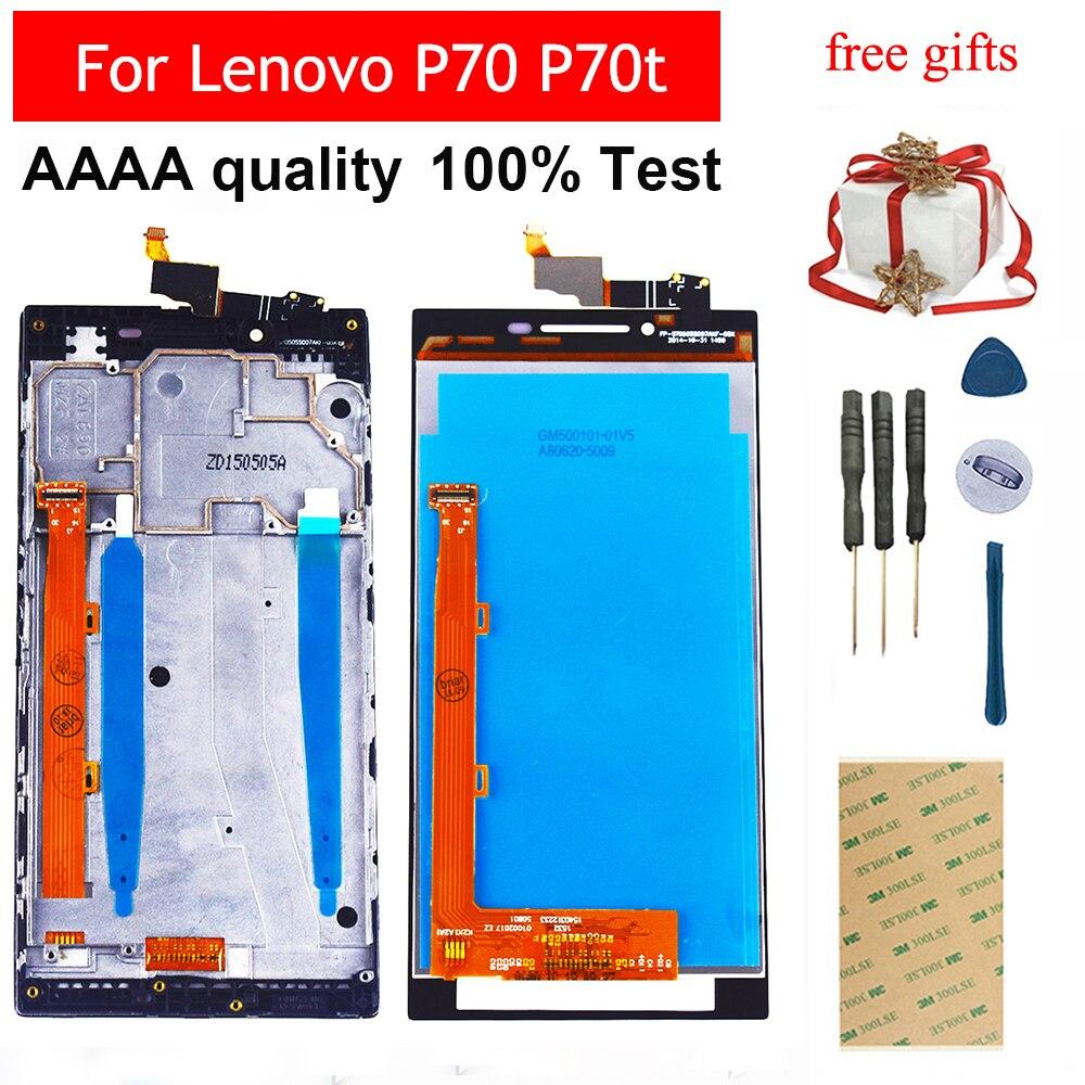 Para lenovo p70 P70-t p70t P70-A p70a digitador da tela de toque sensor vidro do painel + display lcd monitor montagem quadro