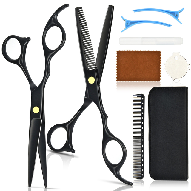 "Professional 6"" Japan Scissors Hair Thinning Scissors Shears Hair Tooth Cut Salon Cutting Barber Hairdressing Sissors Kit Set"