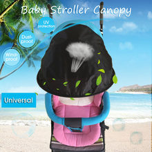Baby Stroller Sunshield Protection Hood Canopy Stroller Accessories Bicycle Sunshade Dustproof Windproof Cover Universial(China)