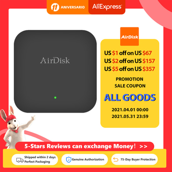"Airdisk Q2 Mobile network hard disk USB 3.0 2.5"" Home Smart Network Cloud Storage Multi-person sharing Mobile Hard Disk Box 1"