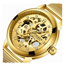 Men's Watches Mechanical-Wristwatch Tourbillon Automatic Diamond Waterproof Luminous